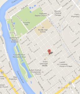 monroe garden district - Google Maps